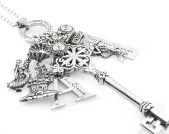 Mermaid Key Jewelry, Key Necklace, Key Pendant, Ocean Jewelry, Initial Pendant, Mermaid Jewelry, Key to Atlantis