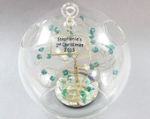 Baby First Christmas Ornament Personalized Ornament with Swarovski Crystal Elements 2015 Ornament