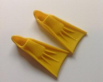 Vintage Ken Yellow Snorkel Finns