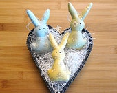 Green Yellow and Blue Pastel Easter Bunny Ornament Bowl Fillers