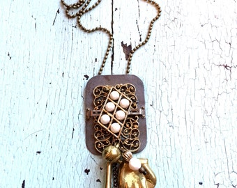 Baseball Mom Necklace - Repurposed Vintage