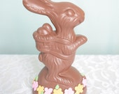 Easter Bunny- Fake Food - Ceramic Chocolate Bunny - Easter Decoration - Chocolate Bunny - Bunny Rabbit - Brown Bunny - Ceramic Bunny