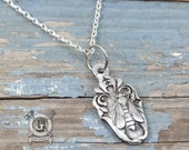Bee Spoon Pendant - Inspired by Antique Victorian Silverware - Hand Cast Necklace - Doctor Gus Handmade Jewelry - Cute Boho Style Insect