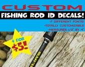Custom Fishing Rod ID Decals Fishing Rod Decals Mens Decals Fishing Decals Fishing Rod Decal! Buy these for your fisherman!!!