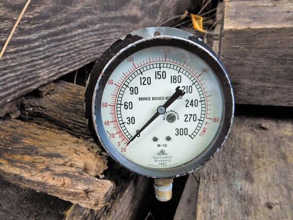 Vintage steampunk pressure gauge geekery assemblage art - Steampunk pressure gauge ...