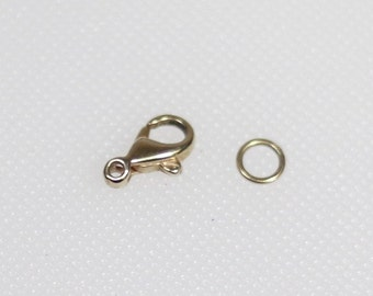 14 karat rounded lobster claw clasp