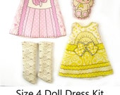 KIT Size 4: Doll Dress Clothing Kit Lavender & Lemon for Neo Blythe and similar dolls