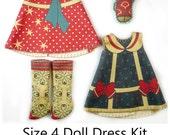 Blythe Dress KIT Size 4: Doll Dress Clothing Kit Sailor Girl for Neo Blythe and similar dolls