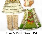 Tonner Patsy Dress KIT Size 5: Doll Dress Clothing Kit Butterfly Catcher pattern for dolls