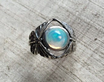 The Butterfly Duo Ring- Opal in Sterling Silver