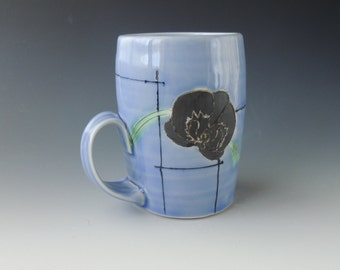 Orchid and Lines Mug