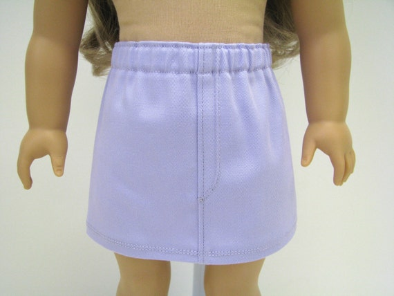 """18"""" Doll Clothes - 18 Inch Doll Clothes - 18 Inch Doll Skirt - Lavender Doll Skirt - A Doll Boutique - Girl Doll Skirt - American Made"""