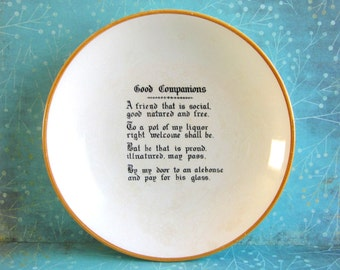 SALE Vintage Adams Tunstall England Good Companions Dish