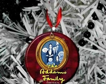"""The Addams Family Musical Comedy - 2.25"""" Christmas Tree Ornament"""