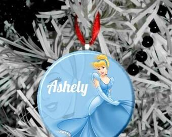 Disney Princess Cinderella Personalized Christmas Tree Ornament