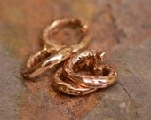 Chunky Jump Ring Links in Copper Bronze D308cb