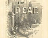Vintage Religious Antique Print The Dead 1883 Steel Engraving Christian Book Plate