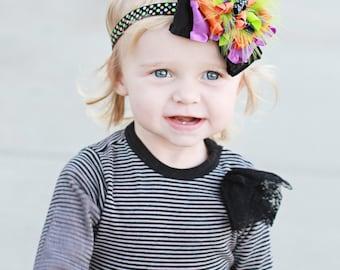 Halloween hair bow, Halloween headband, Halloween Baby Headband, Halloween bow, glitter hair bow, baby Halloween bow, Halloween girls, bows