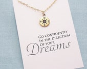 Compass Necklace | Graduation Gift | College Graduation Gift | Silver or Gold  | G01