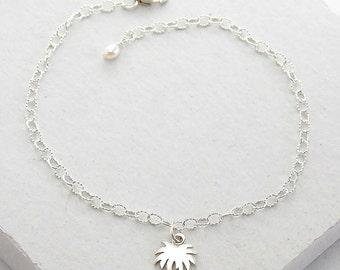 Palm Tree Bracelet | Delicate Everyday Bracelet | Stacking Bracelet | Tiny Charm | Summer Fashion | Sterling Silver