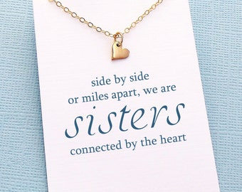 Sister Gift | Tiny Heart Necklace, Gift for Sister, Big Sister, Sister Birthday Gift, Sisters Gift, Sister Gift Ideas, Sister, Sis  | S04