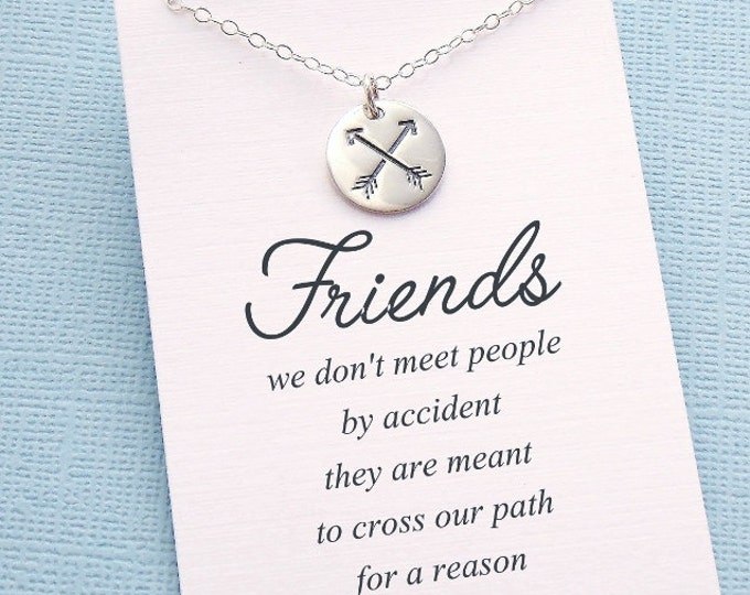 Featured listing image: Friendship Necklace | Crossed Arrow Necklace, Best Friend Gift, Best Friend Necklace, Best Friend, Friendship, Bestfriend Gift, BFF | F01