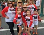 Family Disney Ragan Shirts --- Monogrammed Minnie Mickey