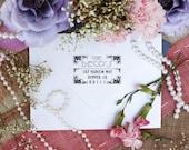 Custom Return Address Self Inking Stamp, Art Deco Return Address Stamp, Cute Stamp for Newly Weds --5425