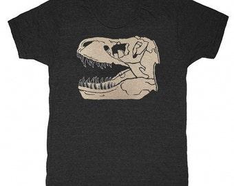Trex Fossil - Unisex Mens T-shirt Museum Tee Shirt Awesome Dino Geek Vintage Science Archaeology Skeleton Tyrannosaurus Rex Dinosaur Tshirt