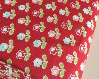 Vintage Picnic fabric, Rosie in Red by Bonnie and Camille, Small print fabric, Red fabric, Fabric by the Yard, Choose the cut