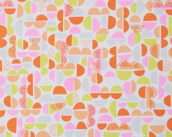 Sale fabric, Cyber Monday Sale, Cotton fabric by the yard, Geometric fabric, Geometric in Orange by Erin McMorris- Choose your cut