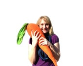 Big Stuffed Carrot Pillow - Medium Carrot Plush- Gifts for Him