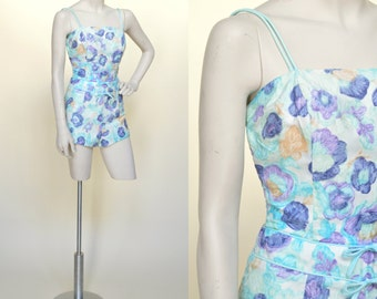 1950s Playsuit --- Vintage Onepiece Swimsuit