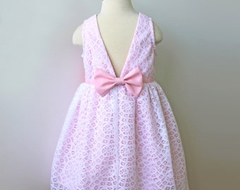 Pink Cotton Candy Birthday Party Dress or Flower Girl Dress for Toddler and Girl