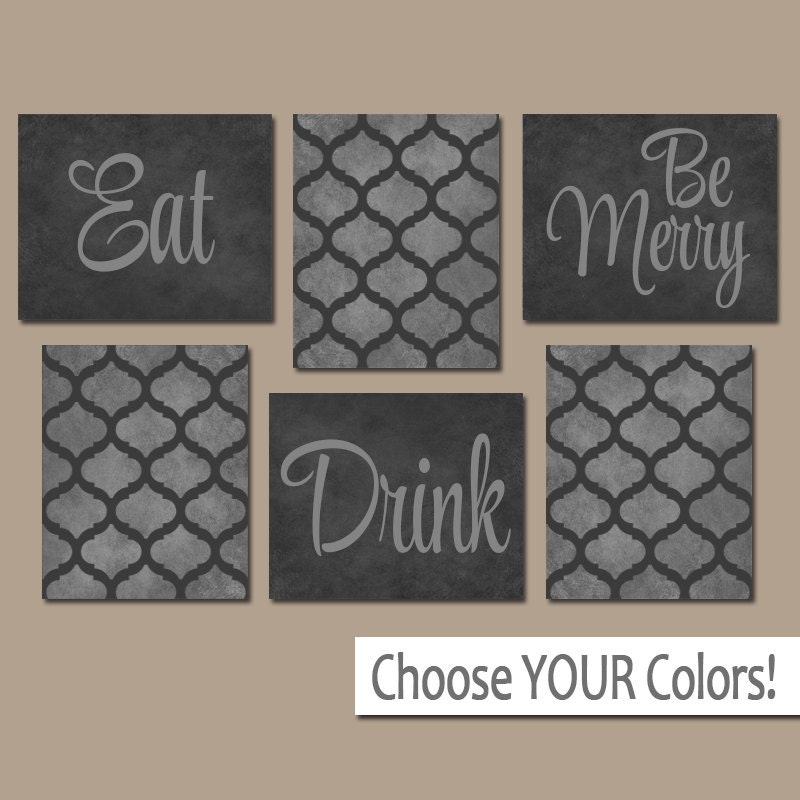 Eat drink be merry canvas or prints kitchen wall art for Art prints for kitchen wall