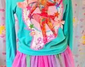 Barbie sweater, 80s sweatshirt ice skate 90s fashion fairy kei size M medium