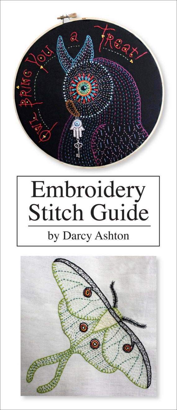Embroidery stitch guide hand stitches from