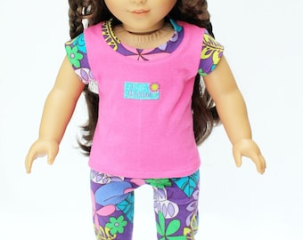 Fits like American Girl Doll Clothes - Dream Pajama Set in Purple