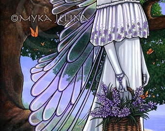 Spring Woodland Fairy Nature Butterfly Lavender Fantasy Nevaeh Original Acrylic Painting