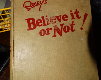 1946 Ripley's Believe it or Not Two Volumes in One, The Longest Flight, The Boy with Owl Eyes, Life is Like That, Human Inchworms, Amazing