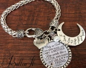 Aunt gift, GIFTS for Aunt, Aunt bracelet, I love you to the moon and back, PHOTO pendant, birthday gift,  Only an aunt quote, birthday gift