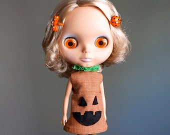 SALE jack o lantern pumpkin dress for blythe HALLOWEEN COSTUME