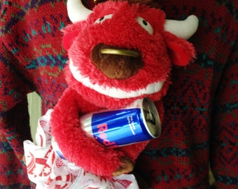Ugly Christmas Sweater Tacky Large Men's Red & Blue Red Bull Eddie Bauer