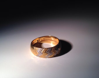 22 KT Yellow Gold (916) Indian Band Ring Size 6.25 KDM
