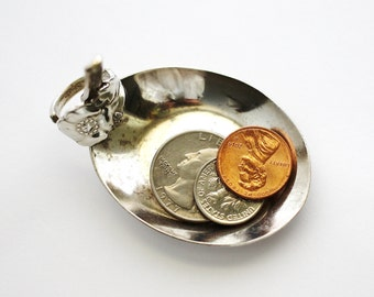 Tea Bag Holder, Coin Change Dish, Tiny Trinket Bowl, Vintage Spoon Ring Dish, Ring Holder, Recycled Silverware by Hendywood (6)