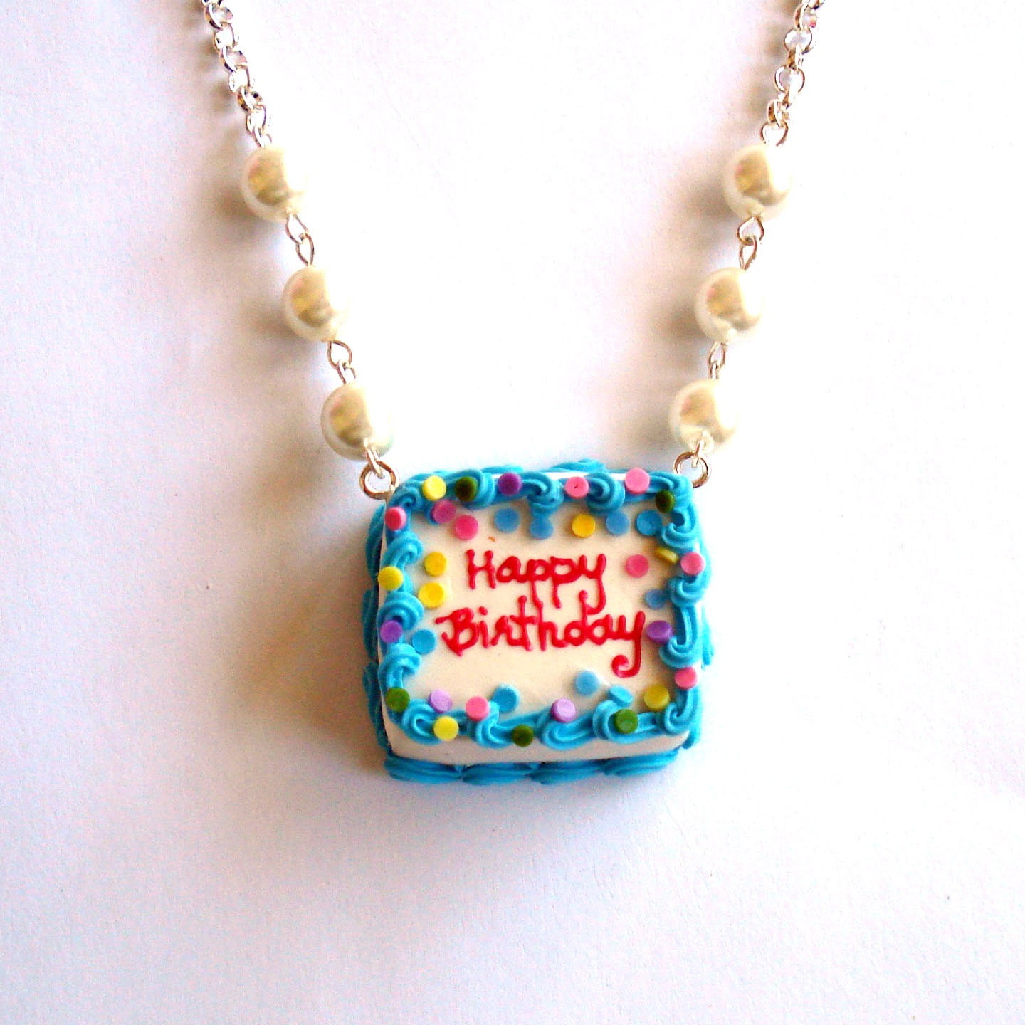 birthday cake necklace happy birthday necklace ice cream