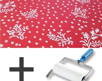 1-Colour Pattern Paint Roller STARTER PACK - Floral Motifs
