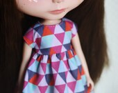 Geometrics - Dress for Blythe doll by Icantdance