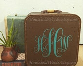Custom Monogram Vinyl Decal, initail decal, initials, Wall stickers, Vine Lettering, Intertwined decal Initials, Removable Vinyl Wall Decal