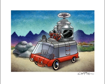Lost In Space Pedal Car 8 x 10 Signed Print